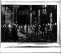 Painting of Cathedral Scene from Much Ado About Nothing by Sir Johnston Forbes Robertson